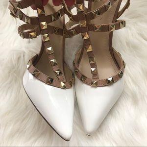1cd0fc2b6c9e BCBGeneration Shoes - BCBGeneration White Studded Liraven Heels